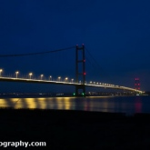 Humber Bridge, Lincolnshire at night