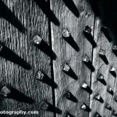 Shadows on a Castle Door - Pendennis Castle, Cornwall
