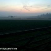 Sunset on a misty afternoon
